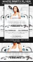 White Party-Club Flyer Template by Hotpindesigns