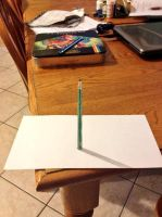 3-d anamorphic pencil illusion by darkervapid