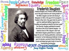 JGF Frederick Douglass Poster - Black History Mont by Kimberly-at-JGF