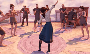 Bioshock Infinite: Dancing Liz Cinemagraph by optimaxion