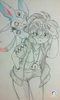 SC Phy x Sylveon by beelzezlover