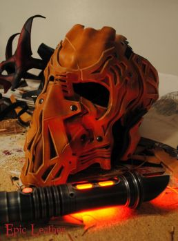 Sith Inspired Leather Headgear WIP by Epic-Leather