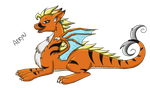 Aeryn the tiger dragoness by tarynsgate