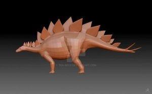 Stegosaurus V2 Progress 9 by Tea-rexx