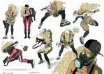 Sabeya action poses -COLOR by ChaseConley