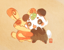 Panda buds :) by Teatime-Rabbit