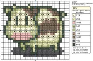 Harvest Moon - Cow by Makibird-Stitching