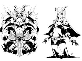 DK Horned Reaper Gyzibal - Before and After by ZeroForever