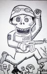 American Interventionist Skull by atisuto17