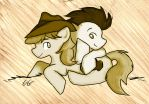 Braeburn and Soarin' by ChiuuChiuu