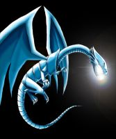 Blue-Eyes White Dragon by DarkFeather