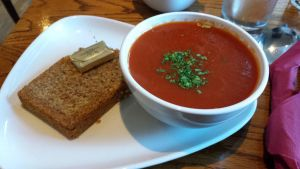 Tomato Basil Soup with Soda Bread by SpiritedAura