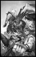 Street Fighter thumbnail sketch wip by AlexPascenko