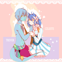 Trever and Celeste by golden-essence