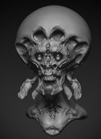 Bug Monster zbrush sketch by zigrapher