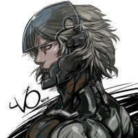 Digital Sketch Warm up -17 Raiden by Vostalgic