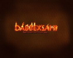 burn text effect by dabbex30 by dabbex30