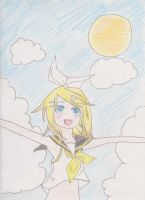 Summer is Here!!!!! (Kagamine Rin) by 03MegurineLuka