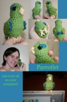 Crochet Parrotlet by FeatheredDragon