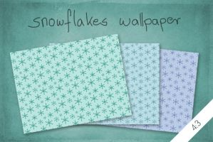 Snowflakes Wallpaper by byjanam