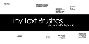 Tiny Text Brushes by RainyDoll-Stock