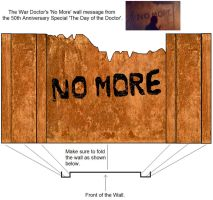 Doctor Who - 'No More' wall for Action Figures by DoctorWhoOne