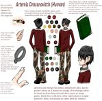Artemis Character Ref by tricklesky