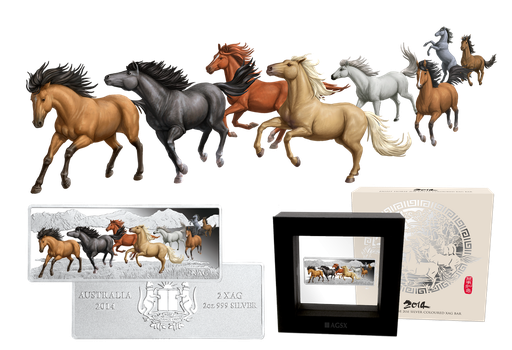 Eight horses running by T-Tiger