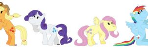My Little Pony Group Picture by Aura-Cat