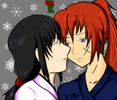Kiss under the Mistletoe by HirokuYamisuki