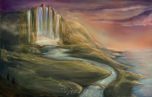 Valley of Falls by chiakiART
