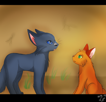 WarriorCats scene: Two more lives to join Starclan by Lizzara