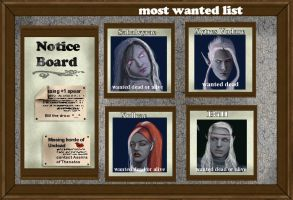 Most wanted board by littlegoblet
