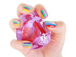 funky nails by heart-of-everything