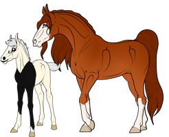 Lineage Foal and Mare Adopts 3 | CLOSED by FoxtailRidgeStables