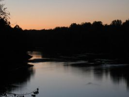 View from Mannsville Bridge II by PeaceFrogArt