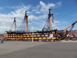 Portsmouth Historic Dockyard - HMS Victory by Fragsey