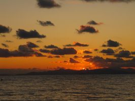 Elba Island at sunset by frei76