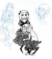 A Gothic Lolita and her Faun by secondlina