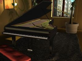 Grand Piano by DeathChronx