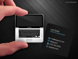 Square Macbook Business Card by axylus