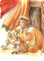 A boy and his fox by Marine-chan