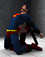 Superman Bound Alt View by DrainedHeroes