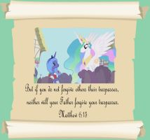 MLP Christian quotes. Celestia by GennadyKalugina