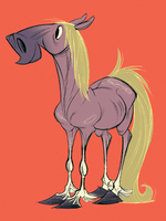 Sampson the Horse by Pocketowl