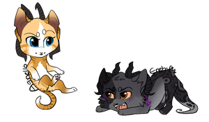 Caster kitty chibis 2 by jealousapples