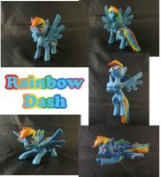 Rainbow Dash Sculpture: Collage by ClayPita