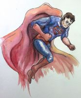 Superman watercolor by dARk-knighT4