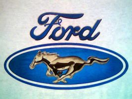 FORD MUSTANG LOGO AIRBRUSHED by javiercr69