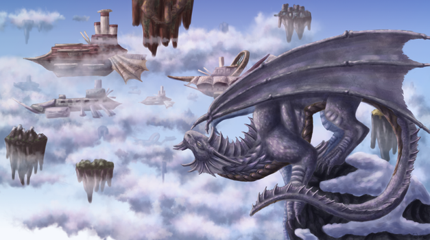 DnD: Of Dragons and Airships by CelesteSaatchi